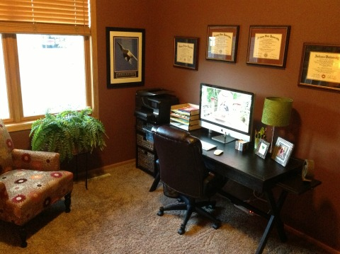 writer's home office design Newman